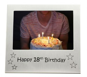 Happy 18th Birthday - Photo Frame Gift - Photo Size 5 x 3.5 Inches (13 x 9 cm)